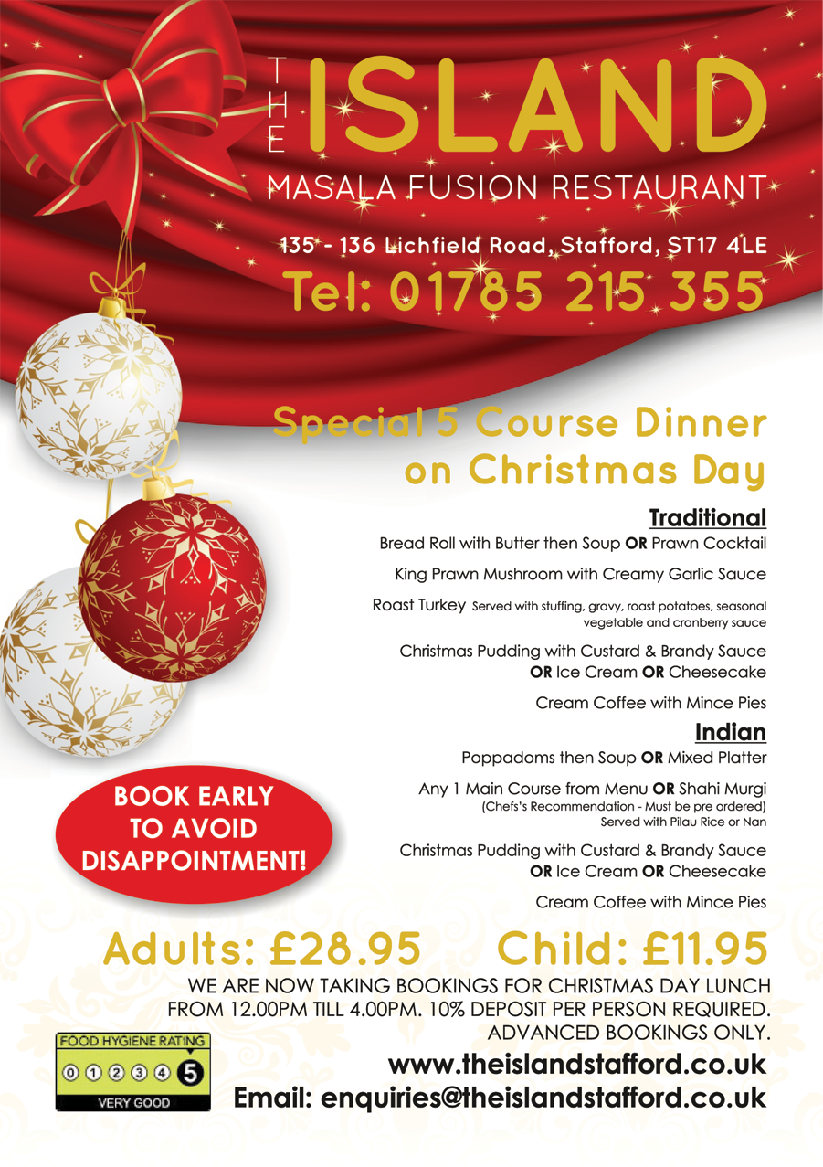Christmas - The Island Stafford Indian Restaurant